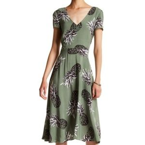 "BB Dakota ""Emilienne Pineapple Printed Dress"""